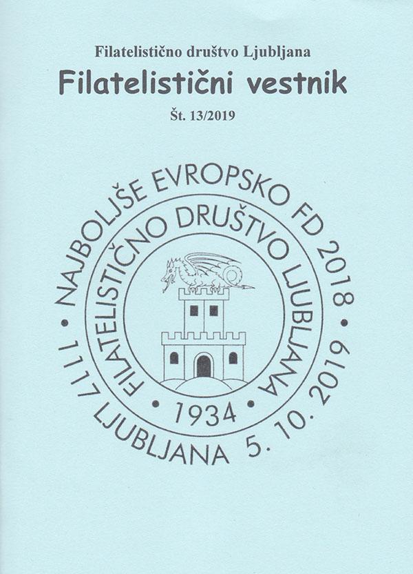13. številka Filatelističnega Vestnika FD Ljubljana