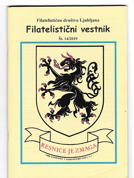 14. številka Filatelističnega Vestnika FD Ljubljana