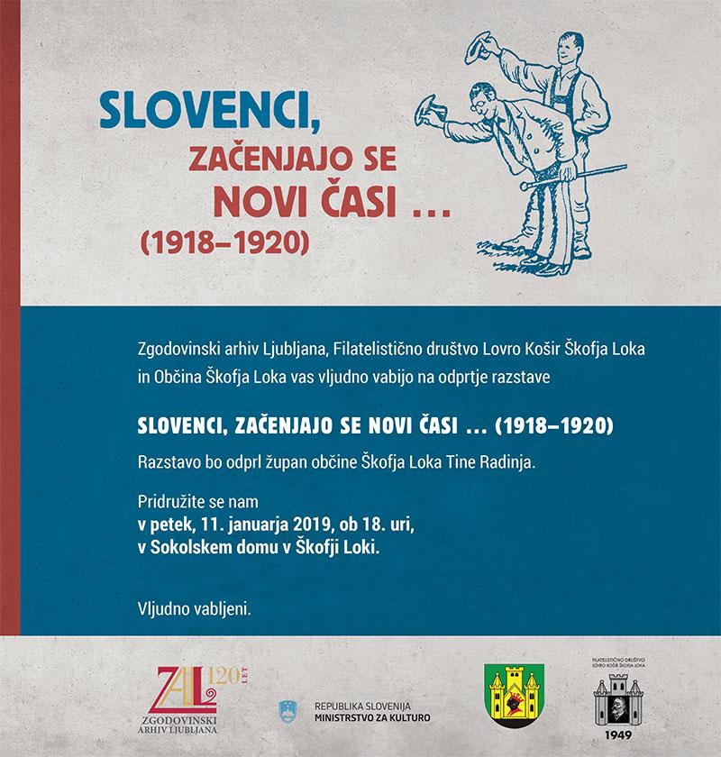 """Razstava v Škofji Loki - """"Slovenci, začenjajo se novi časi"""""""