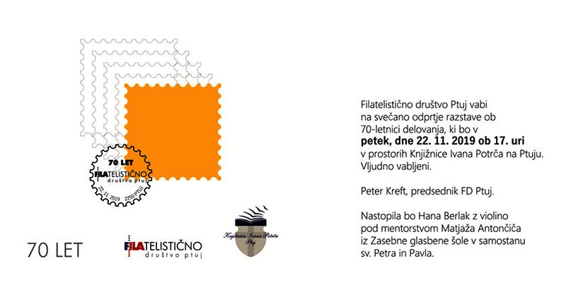 Filatelistično društvo Ptuj praznuje 70 let