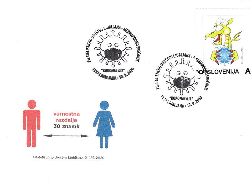 Priložnostna izdaja FD Ljubljana Ljubljanski zmaj proti korona virusu