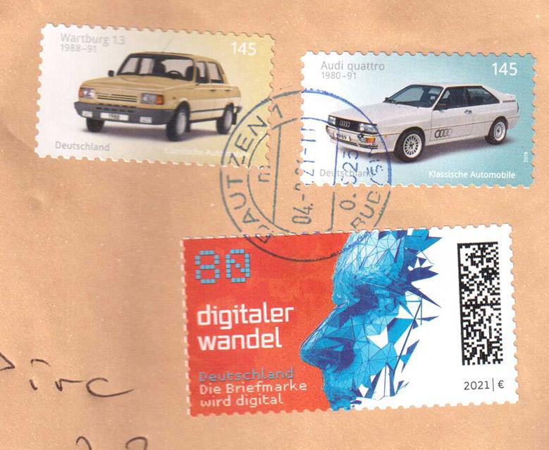Nemška Pošta je uvedla digitalne znamke